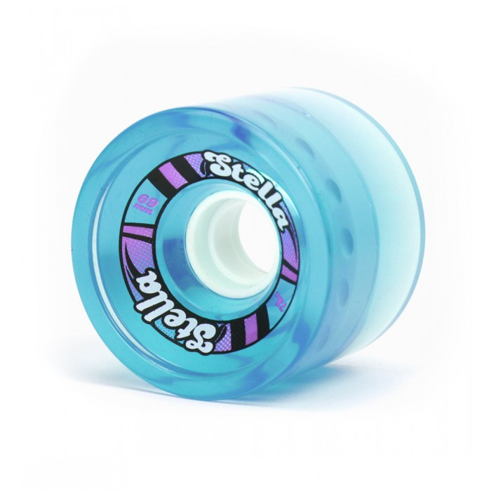 Stella 69mm Longboard Gel Wheels - Blue