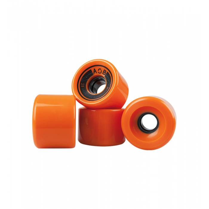AOB Straight Longboard Wheels - Orange