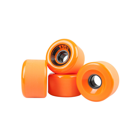 AOB Banshee 78A Longboard Wheels - Orange