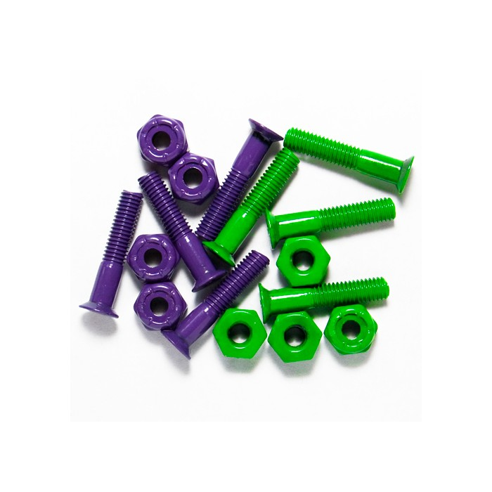 "Steadfast Mounting Bolt Set 1"" Coated - Purple Green"