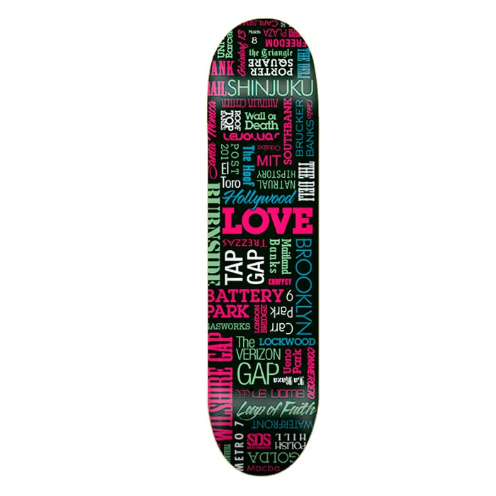 "SDS Spot 7,625"" Deck - Black"
