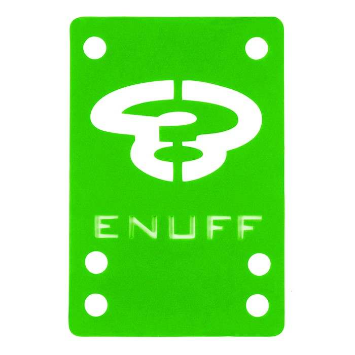 Enuff Skateboard Shock Pad - Green 2x