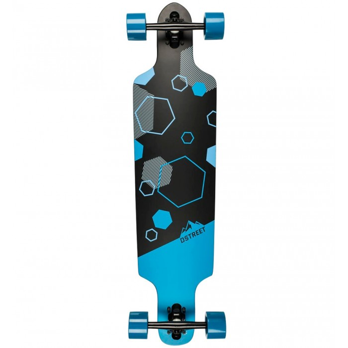 D Street Polygon Hex Drop Through Longboard
