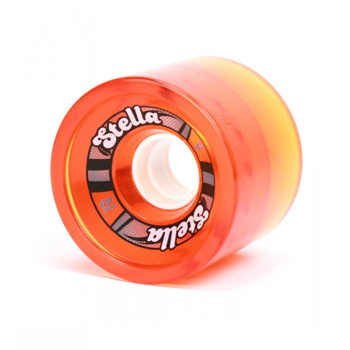 Stella 69mm Longboard Gel Wheels - Orange
