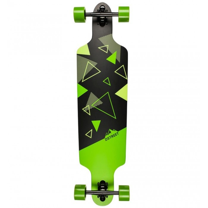 D Street Polygon Tri Drop Through Longboard