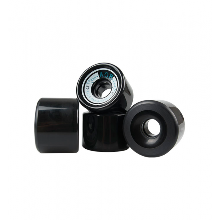AOB Straight Longboard Wheels - Black