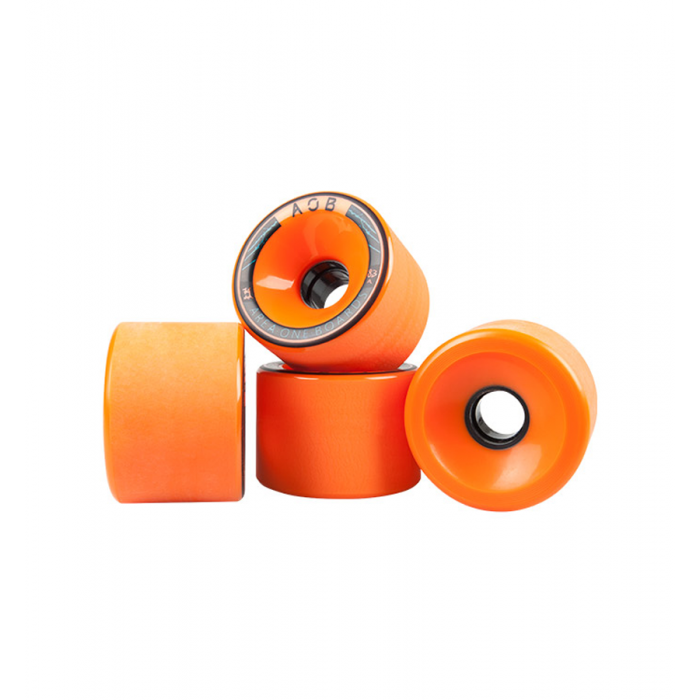 AOB Alpha 83A Longboard Wheels - Orange