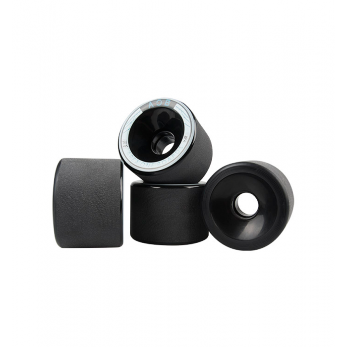 AOB Alpha 78A Longboard Wheels - Black
