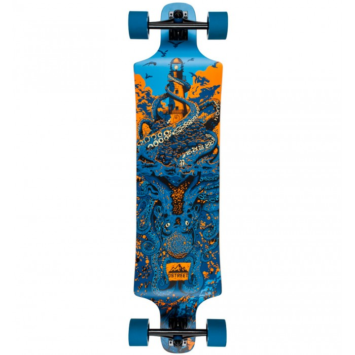 D Street Underwater Shipwrecked Drop Down Longboard