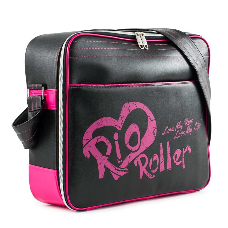 Rio Roller Fashion Bag - Black / Pink