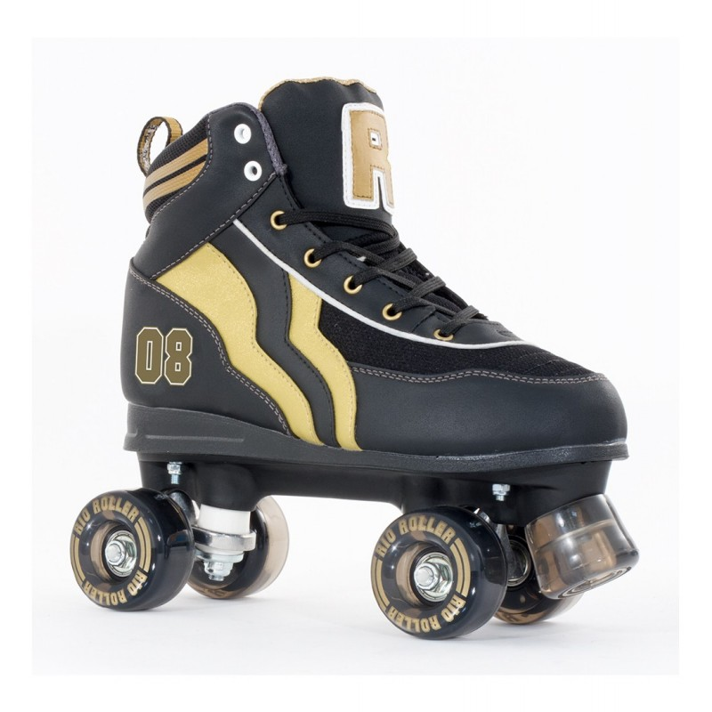 Rio Roller Varsity Adult Quad Skate - Black / Gold