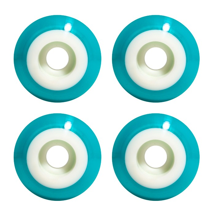 Steadfast Two-Tone 51mm Skateboard Wheels - White Blue