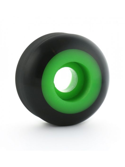 Steadfast Two-Tone 51mm Skateboard Wheels - Black Neon Green